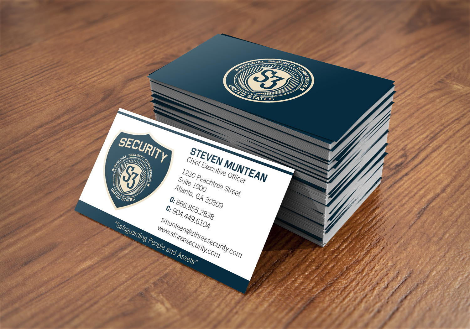 Security Companys Security Company Business Cards